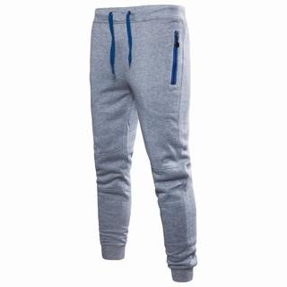 Men's colorblock zipper casual sweatpants k06