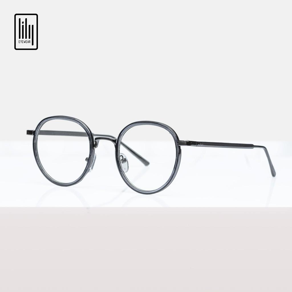 Gọng kính cận nam nữ Lilyeyewear kim loại, mắt tròn, nhiều màu - Y9020