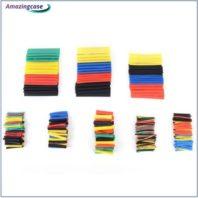 127/328/530Pcs Heat Shrink Tubing 2:1 Car Cable Sleeving Assortment Wrap Wire
