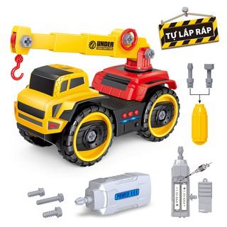 Bộ đồ chơi Duka – Xe Cẩu Cẩu Chuyên Dụng – No. 839620 – Xe Công Trình tự tháo lắp – 38 x 20 x 15 cm