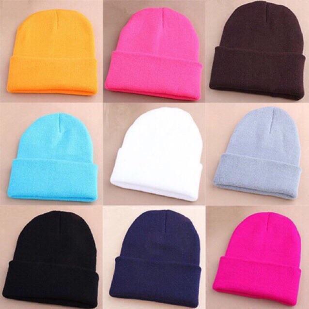 Mũ Len Beanie Nhiều Màu.