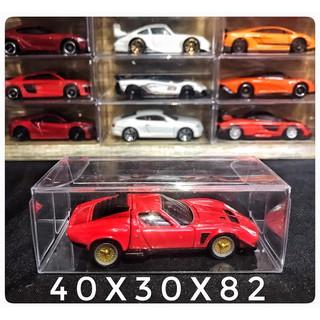 Hộp PVC trưng bày bảo vệ xe mô hình Tomica , Hotwheels 1 64 thumbnail
