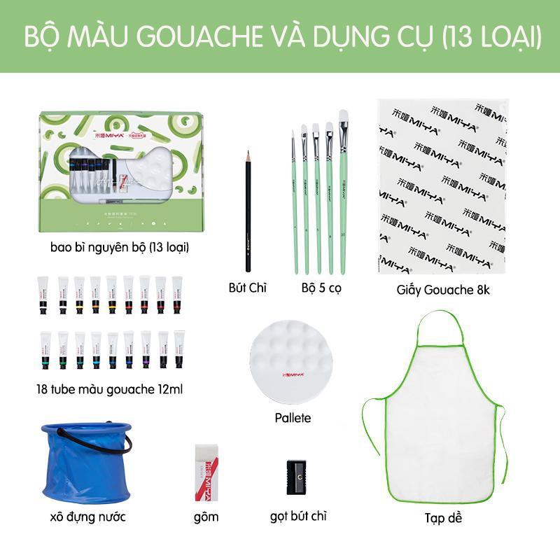 Set màu Gouache MIYA 13 món cơ bản cho người mới tập | Shopee Việt Nam