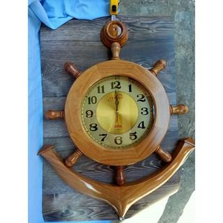 Đồng hồ mỏ neo gỗ gõ tự nhiên 60cm