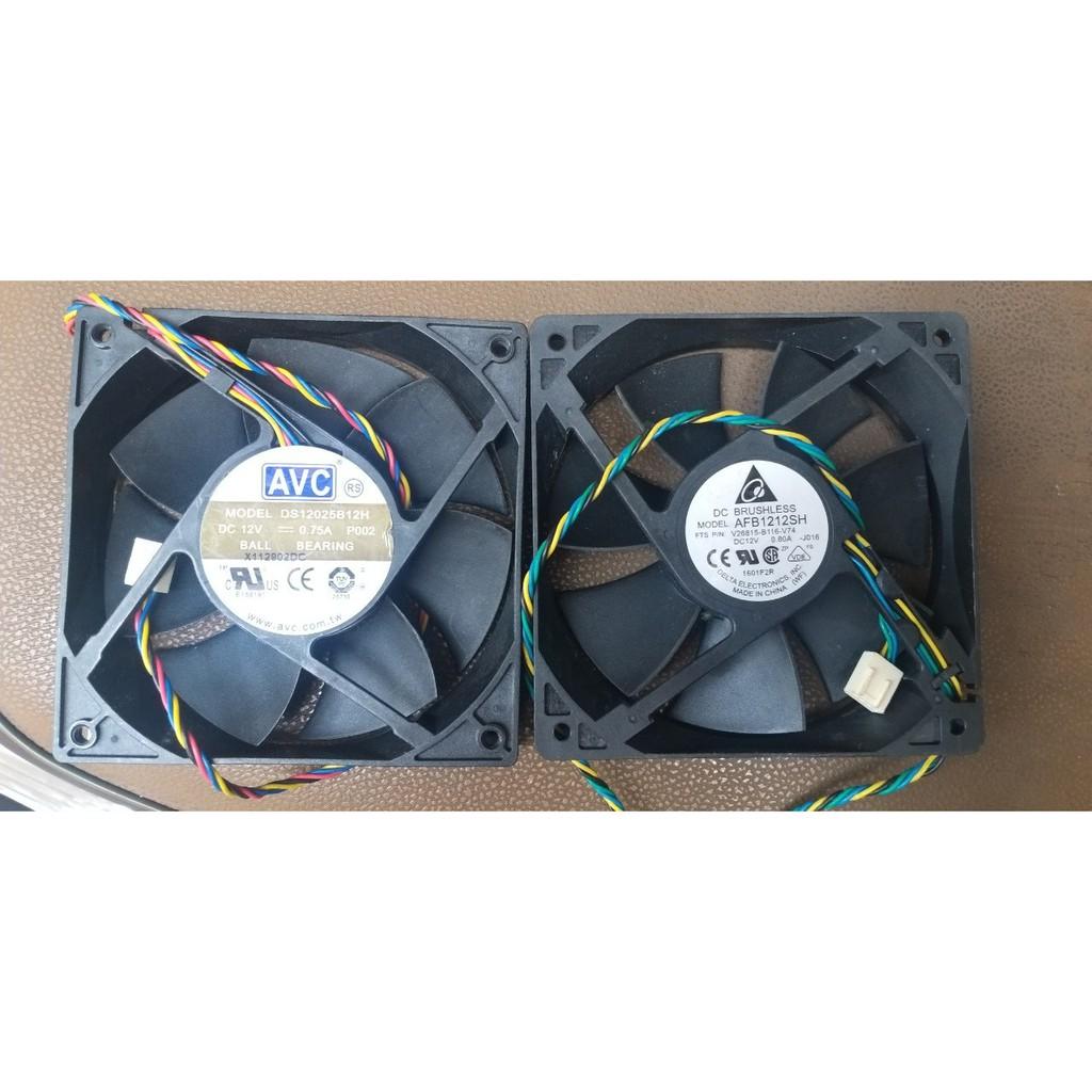 Fan quạt 12cm siêu mạnh tản nhiệt máy tính hiệu DELTA, FOXCONN, AVC dòng 12v, ampe 0.3 đến 1.0a, hàng tháo máy Server