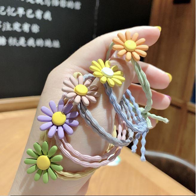 Chun buộc tóc hoa cúc nhiều màu