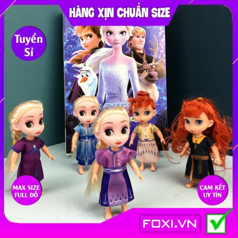 Búp bê Barbie Anna và Elsa Foxi-Đồ chơi công chúa nhân vật hoạt hình đẹp-vui nhộn-dễ thương-sáng tạo-Trò chơi nhập vai