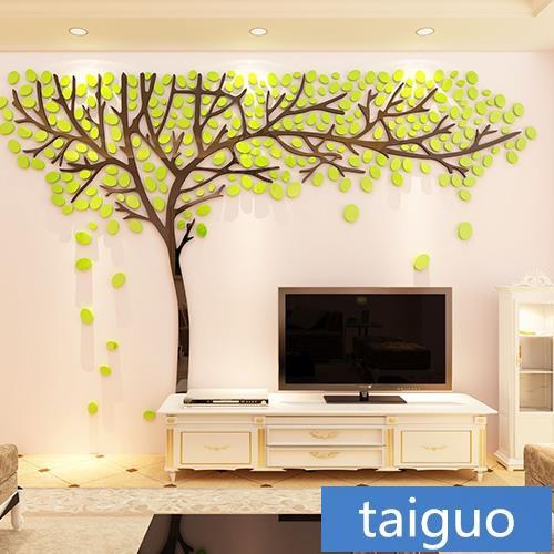 สต กเกอร คร ล คanime Tree Living Room Decoration Creative Tv