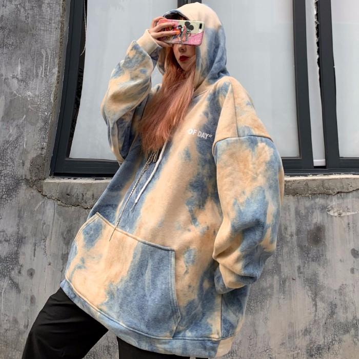 Áo hoodie dáng rộng phong cách Hàn Quốc trẻ trung dành cho nữ