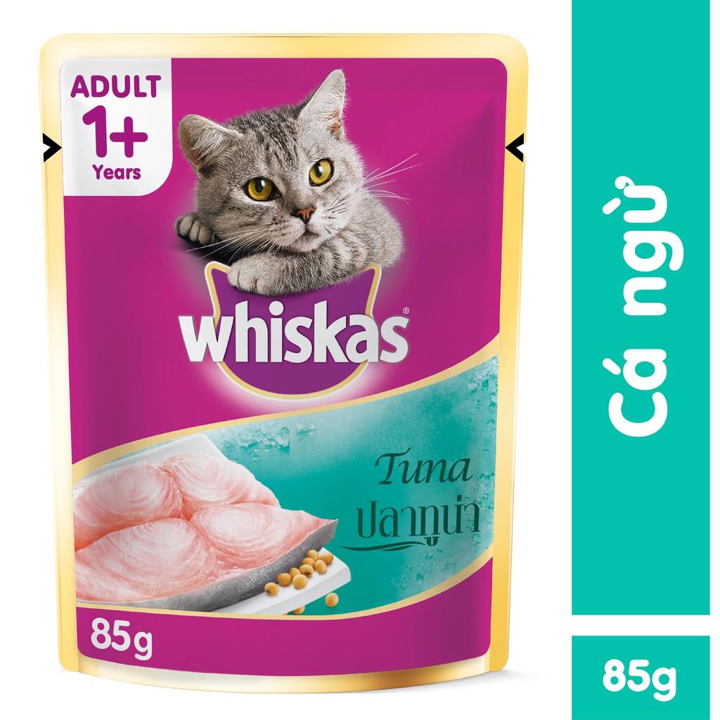 Thức ăn mèo Whiskas vị cá ngừ dạng túi 85g