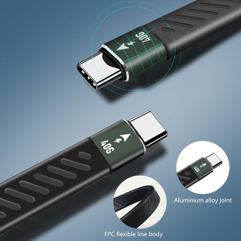 Cáp Chuyển Đổi Pd 60w Thunderbolt 3 Cable Thunderbolt 40gbps Type C Sang UsB C