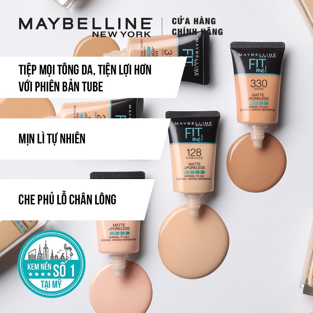 Hình ảnh Kem nền lì mịn tự nhiên Maybelline Fit Me Tube 18 ml-3