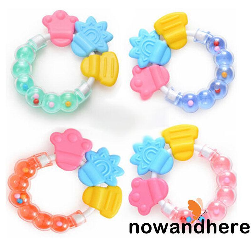 RNO-New Infant Teething Circle Ring Fashion Bady Rattles Biting Toy Cute Kid