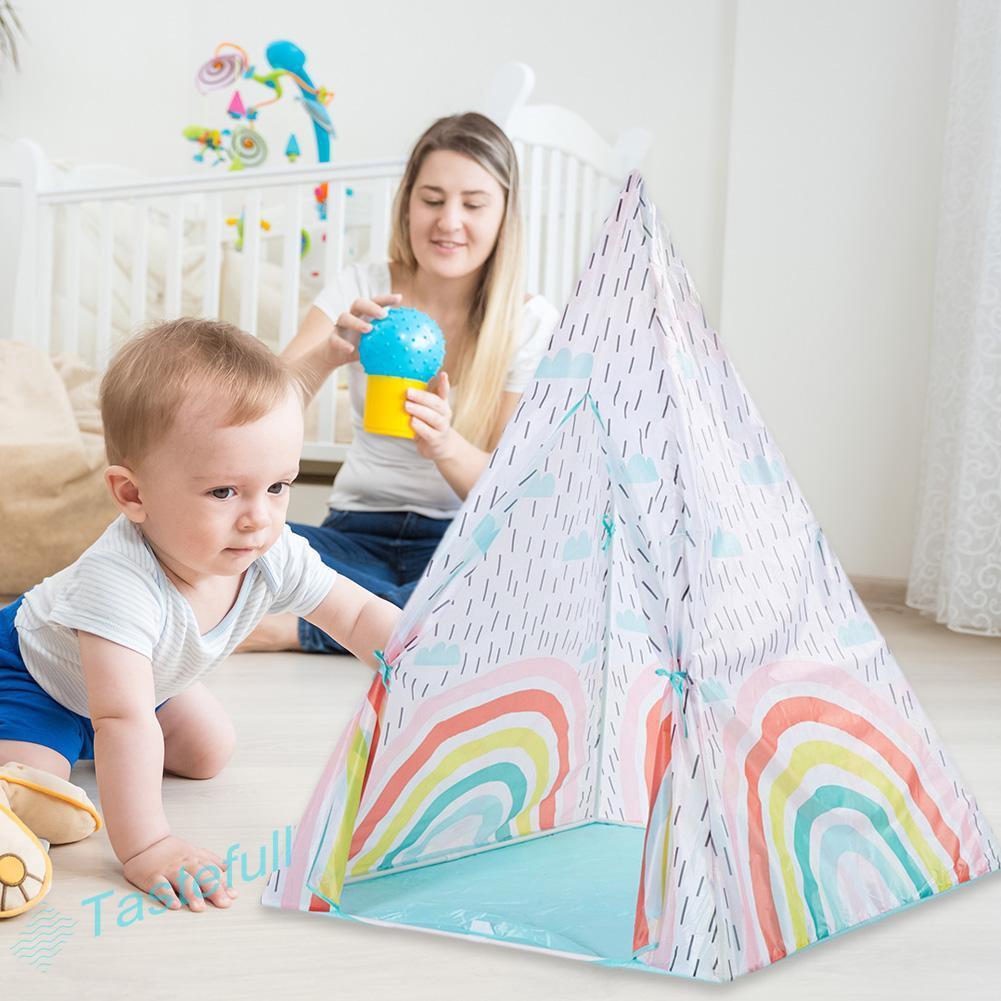 ღfullღCloth Children Tent Colorful Portable Indoor Outdoor Play Tent House Gift