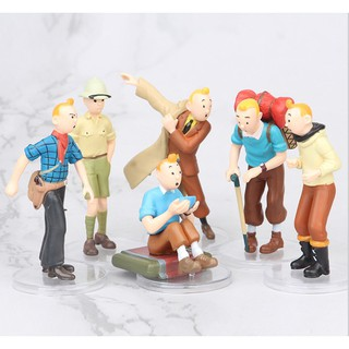 6 model toys Tintin Little Snow Doll