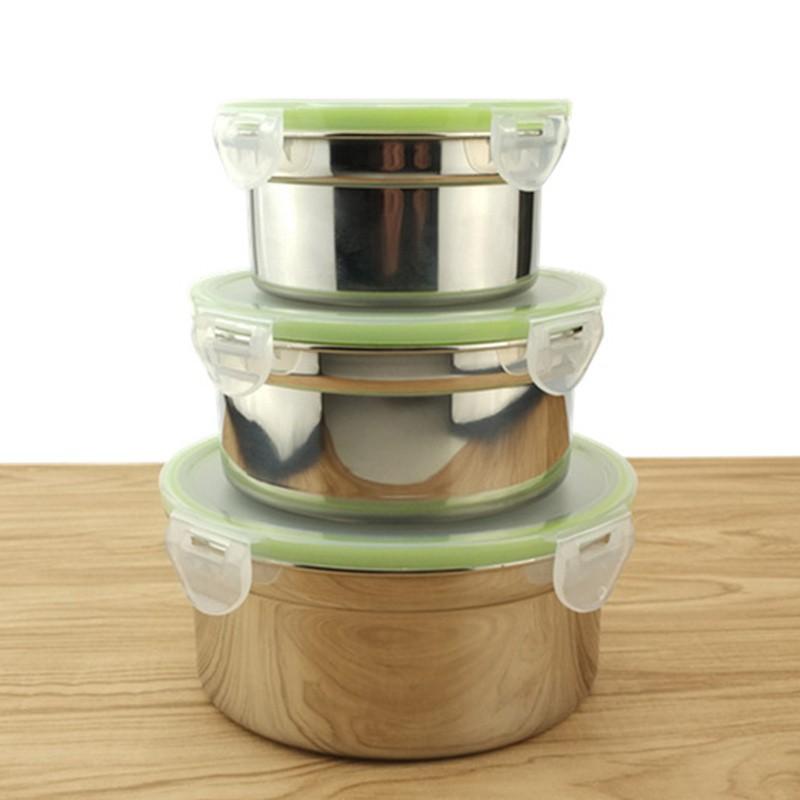 hộp đựng cơm trưa 3 ngăn bằng thép không gỉ 280/500/900ml