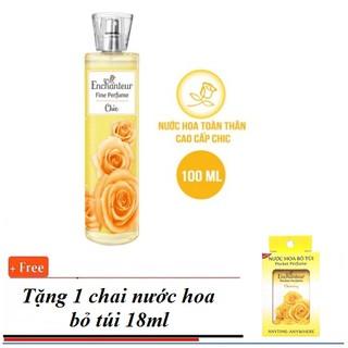 Mua 1 tặng 1 - Nước Hoa Toàn thân Enchanteur 100ml + Tặng kem 1 chai nước hoa bỏ túi Enchanteur 18ml thumbnail