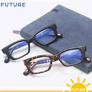 🎈FUTURE🎈 Fashion Anti-blue Light Glasses Blue Light Blocking Computer Goggles Square Frame Eyewear Vision Care Men Women Retro Classic Radiation Protection Vintage Eyeglasses leopard/grey/beige