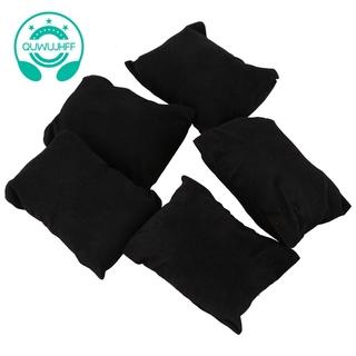 5 X Veet Bracelet Watch Jewelry Display Pillow Black
