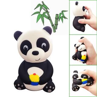 Đồ chơi xốp squishy giảm stress hình gấu trúc ăn bánh dễ thương cho bé sp11