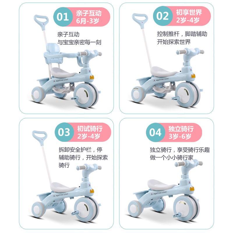 [MÃ SKAMSALE07 GIẢM 10%]Xe đẩy kiêm xe chòi chân, xe đạp 618 có khung bảo vệ cho bé