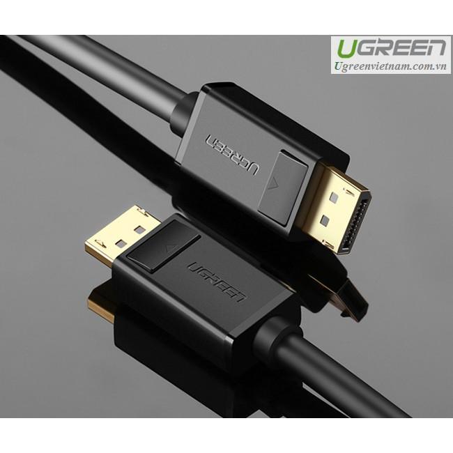 Cáp Displayport to Displayport Tốc Độ 21.6Gbps Ugreen 10245.10211.10212.102 Dài 1.5m.2m.3m.5m- Hàng Cao Cấp Chính Hãng