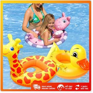 Phao bơi 🤗FreeShip🤗 Phao tập bơi hình thú xỏ chân cho bé chất liệu nhựa dẻo chịu lực tốt – TE0236