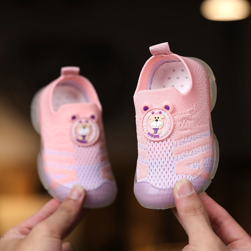Baby Toddler Shoes Spring and Autumn Breathable Mesh Shoes Little Kids' Sneakers1-4Years Old Baby Boys and Girls Soft-Soled Shoes for Baby OlBi