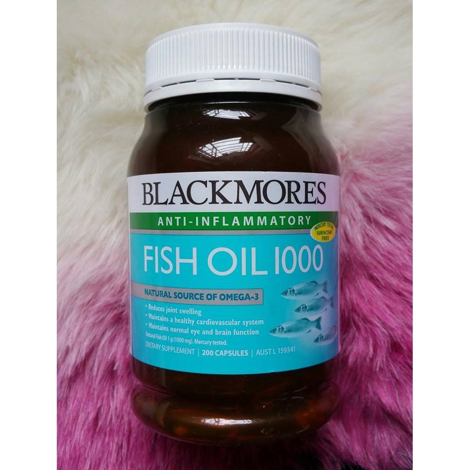 Blackmores Odourless Fish Oil 1000mg 200 Capsules (Khử mùi)