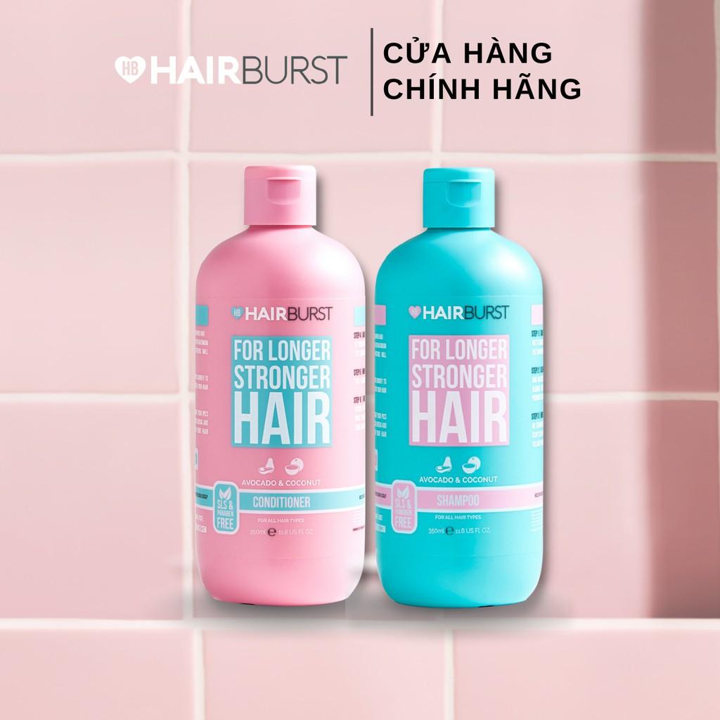 Set gội xả HAIRBURST kích thích tóc mọc dài hơn chắc khỏe hơn 350ml/chai