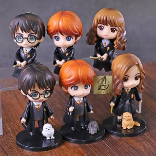 Bộ mô hình 6 nhân vật chibi phim Harry Potter cực cute