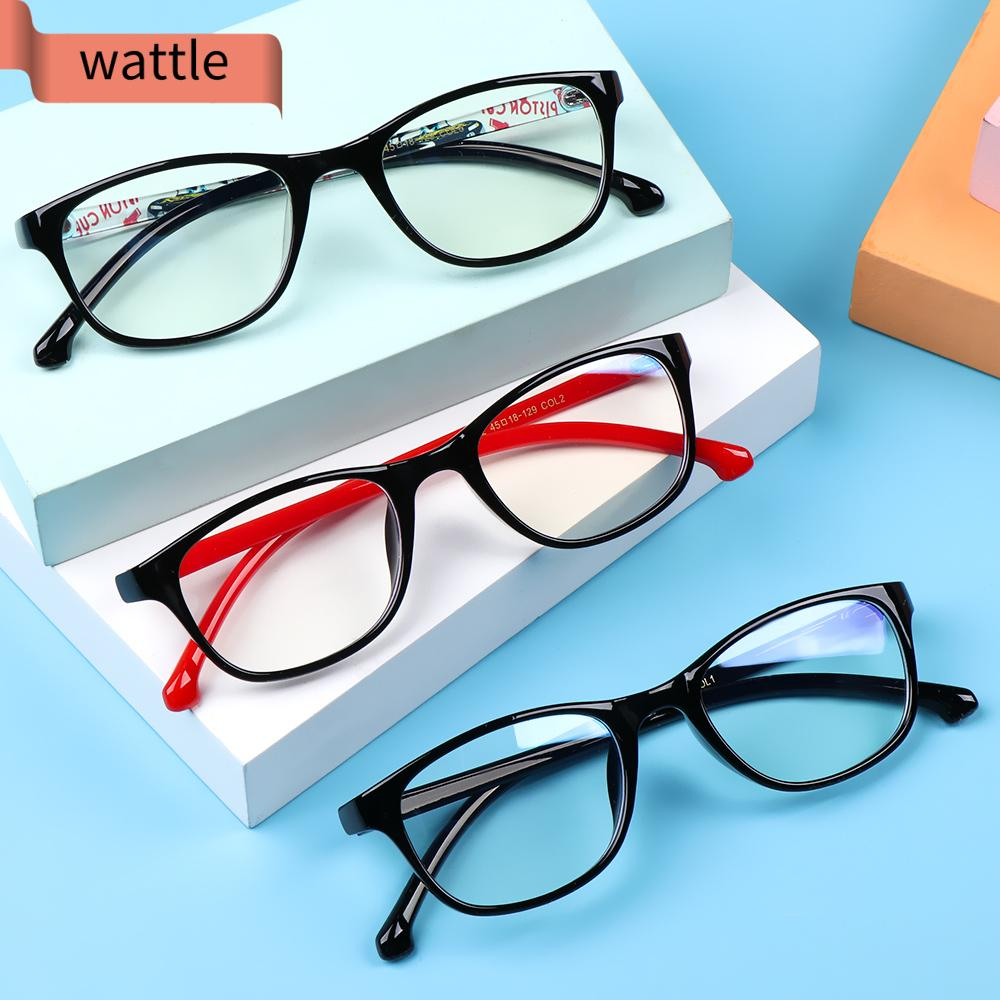 WATTLE Fashion Comfortable Eyeglasses TR90 Anti-blue Light Kids Glasses Portable Online Classes Computer Children Boys Girls Eye Protection Ultra Light Frame