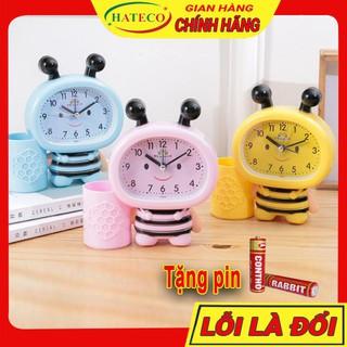 Đồng hồ báo thức hình con ong cho bé kiểu đồng hồ để bàn báo thức dễ thương