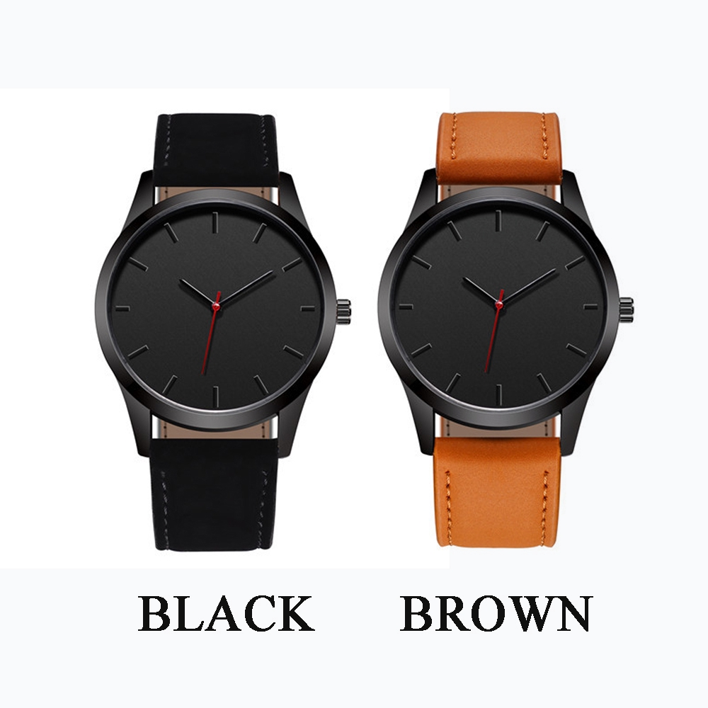 Large Dial Military Quartz Men Watch Leather Sport watches High Quality Clock Wristwatch