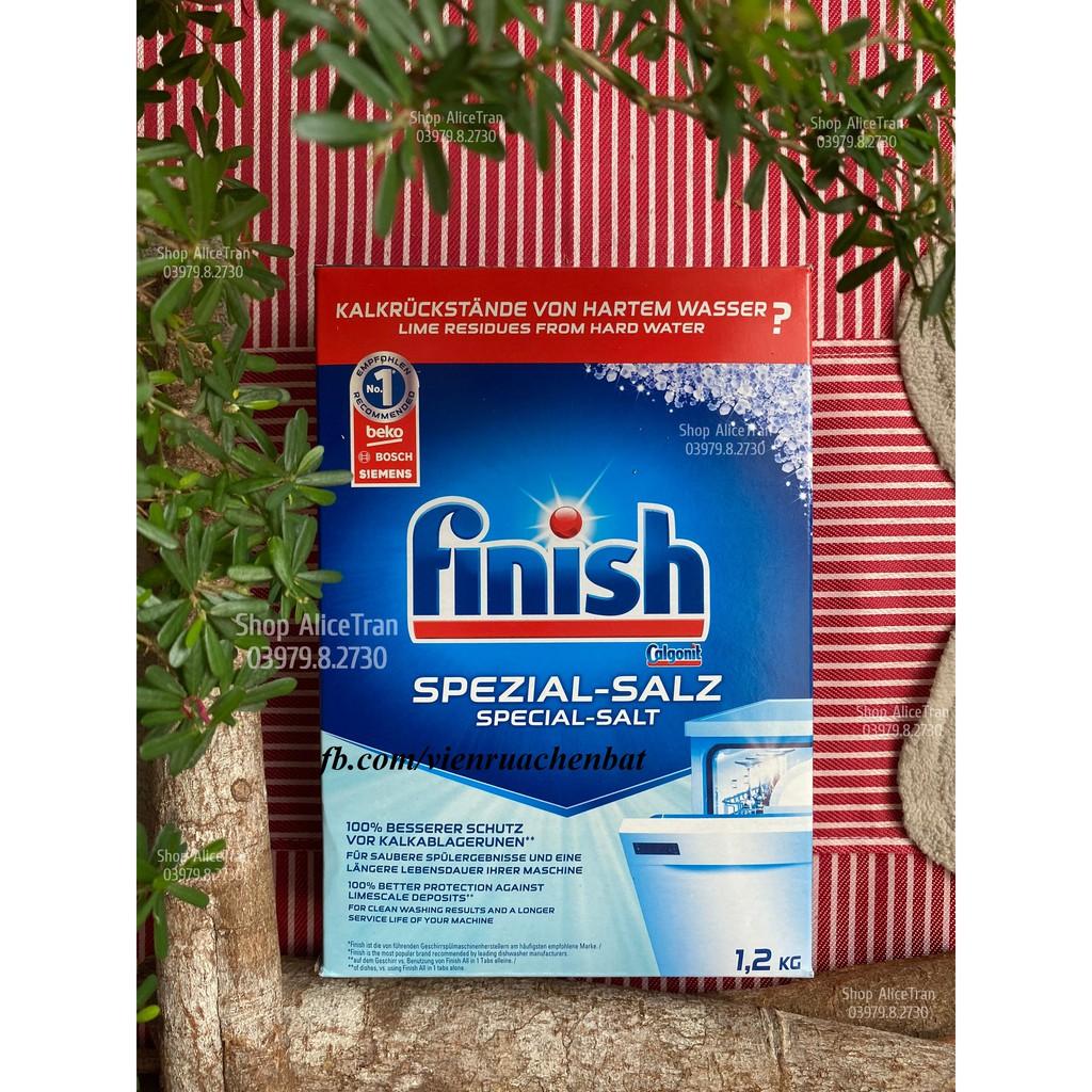 Muối làm mềm nước Finish 1.2kg dùng cho máy rửa chén bát