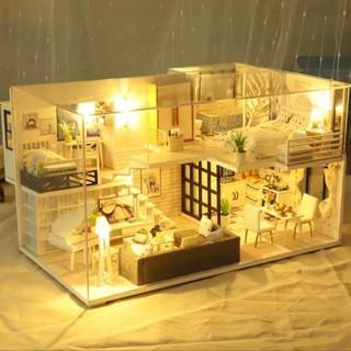 Mô hình nhà gỗ DIY Biệt thự nắng ấm
