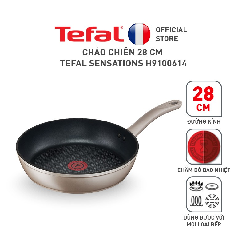 Chảo chiên 28 cm Tefal Sensations H9100614