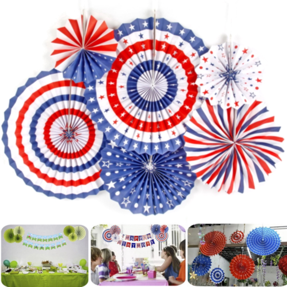 6pcs/set Rosettes Birthday Backdrop Hanging Photo Props Craft DIY Tree Party Supplies Baby Shower Wedding Ornaments