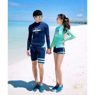 BikiniStoreVN đồ bơi couple dài tay style Hàn Quốc Ani 7