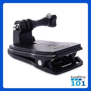 Kẹp giữ máy ảnh GoPro Hero xoay 360 độ gắn ba lô , nón đa năng cho SJCam, Xiaomi Yi, Yi Action, Osmo-GoPro101-inoxnamkim