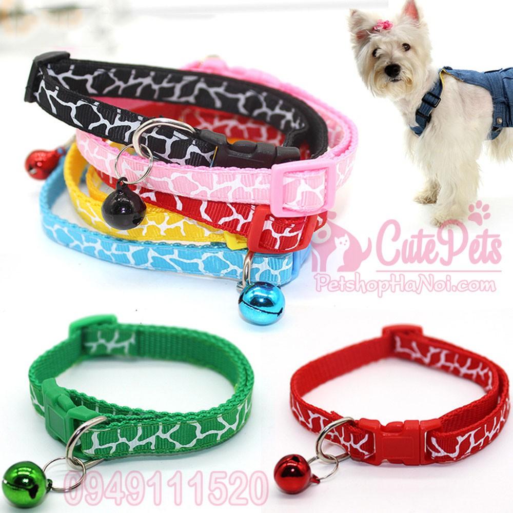 🎀 Vòng cổ chuông nhiều màu dành cho thú cưng - CutePets Phụ kiện chó mèo Pet shop Hà Nội