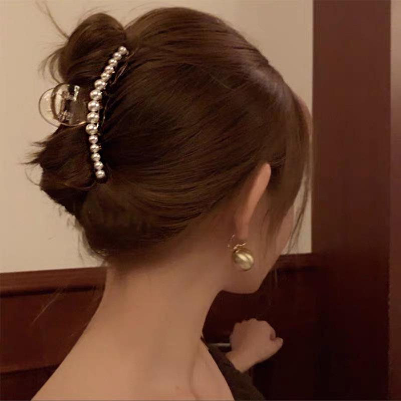 Kẹp Tóc Đính Ngọc Trai Xinh Xắn Kiểu Pháp Cho Nữ