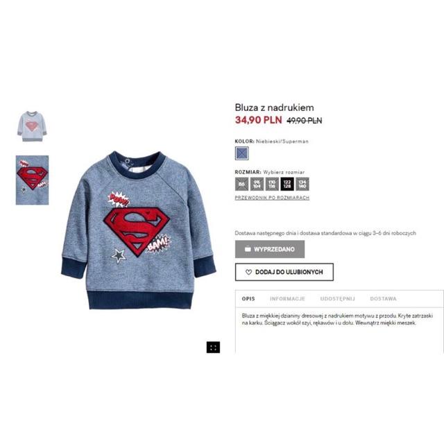 Áo nỉ H&M thêu logo Batman nổi siêu đẹp