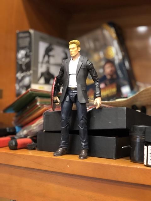 Head Steve Roger tỷ lệ 1/12 6 inch dành cho Marvel Legend