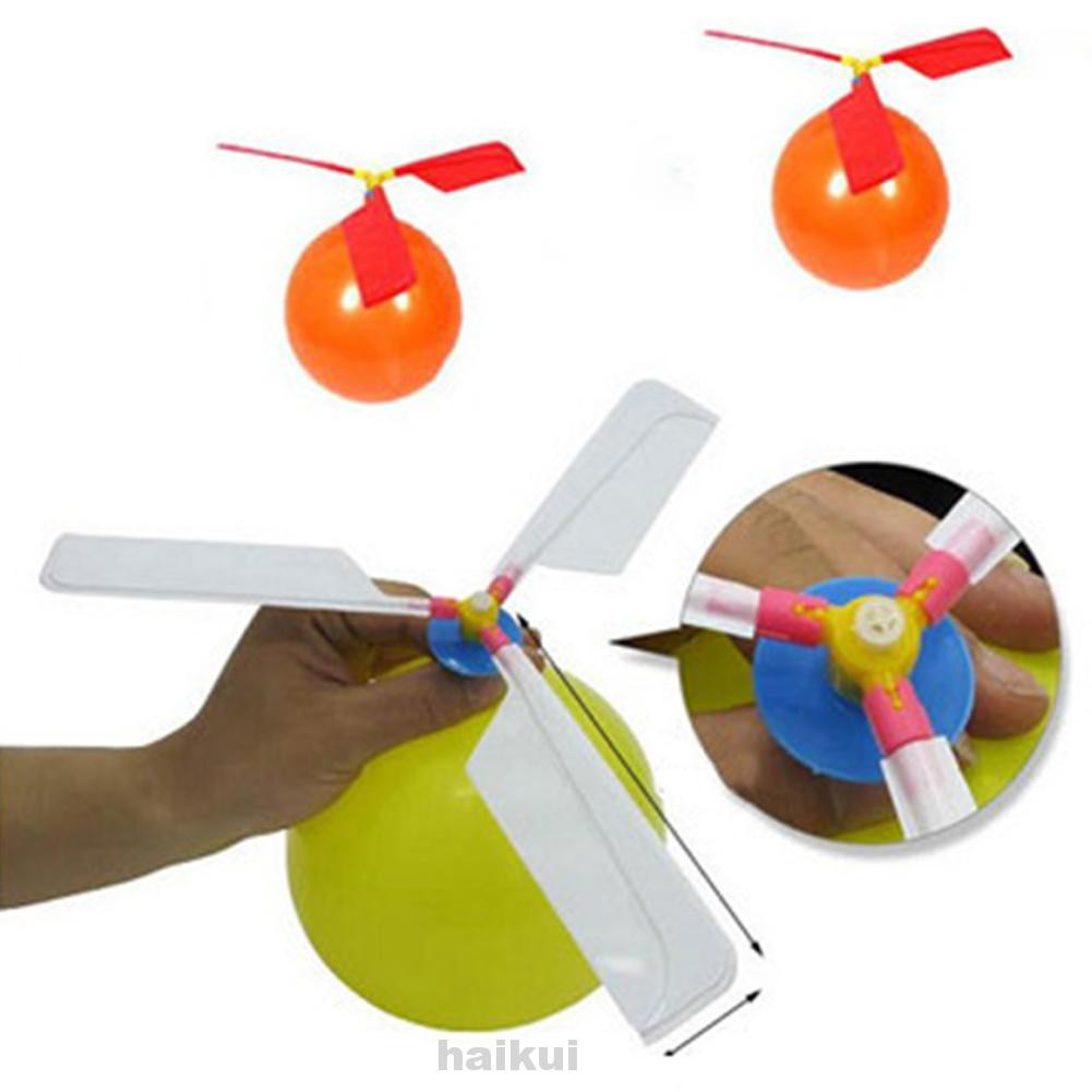Easy Install Plastic Assemble Educational Gift Manual Balloon Helicopter
