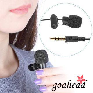 Micro điện dung có dây 3.5mm thiết kế mini kẹp ve áo tiện lợi
