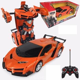 Đồ chơi ô tô điều khiển biến hình thành robot Gb982(PIN SẠC)
