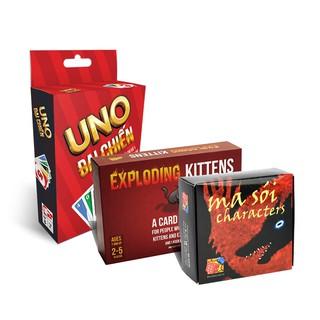 Combo Board Game siêu chất cho dân Văn Phòng: Uno đại chiến + Mèo Nổ + Ma Sói characters