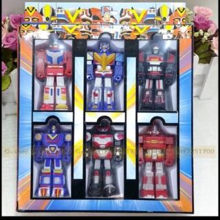 [đồ chơi] bộ 6 robot siêu nhân