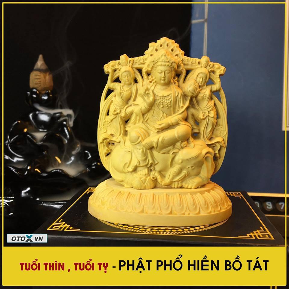Tượng Phật Phổ Hiền Bồ Tát Gỗ Hoàng Dương tặng vòng đeo tay
